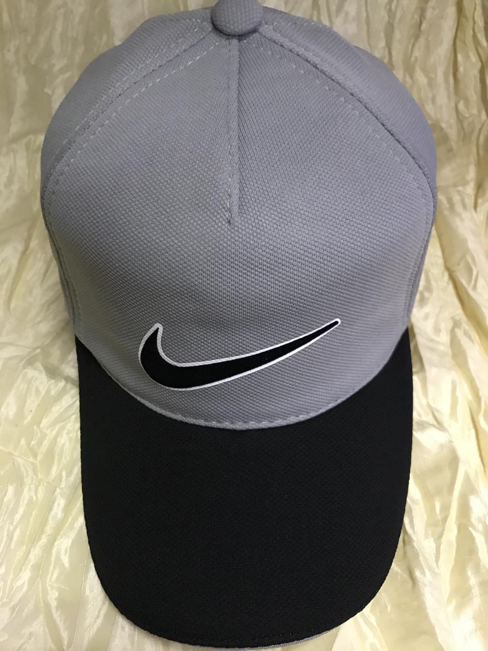 Бейсболка  трикотажная козырек двухцветный размер 58-60 цвет св/серый