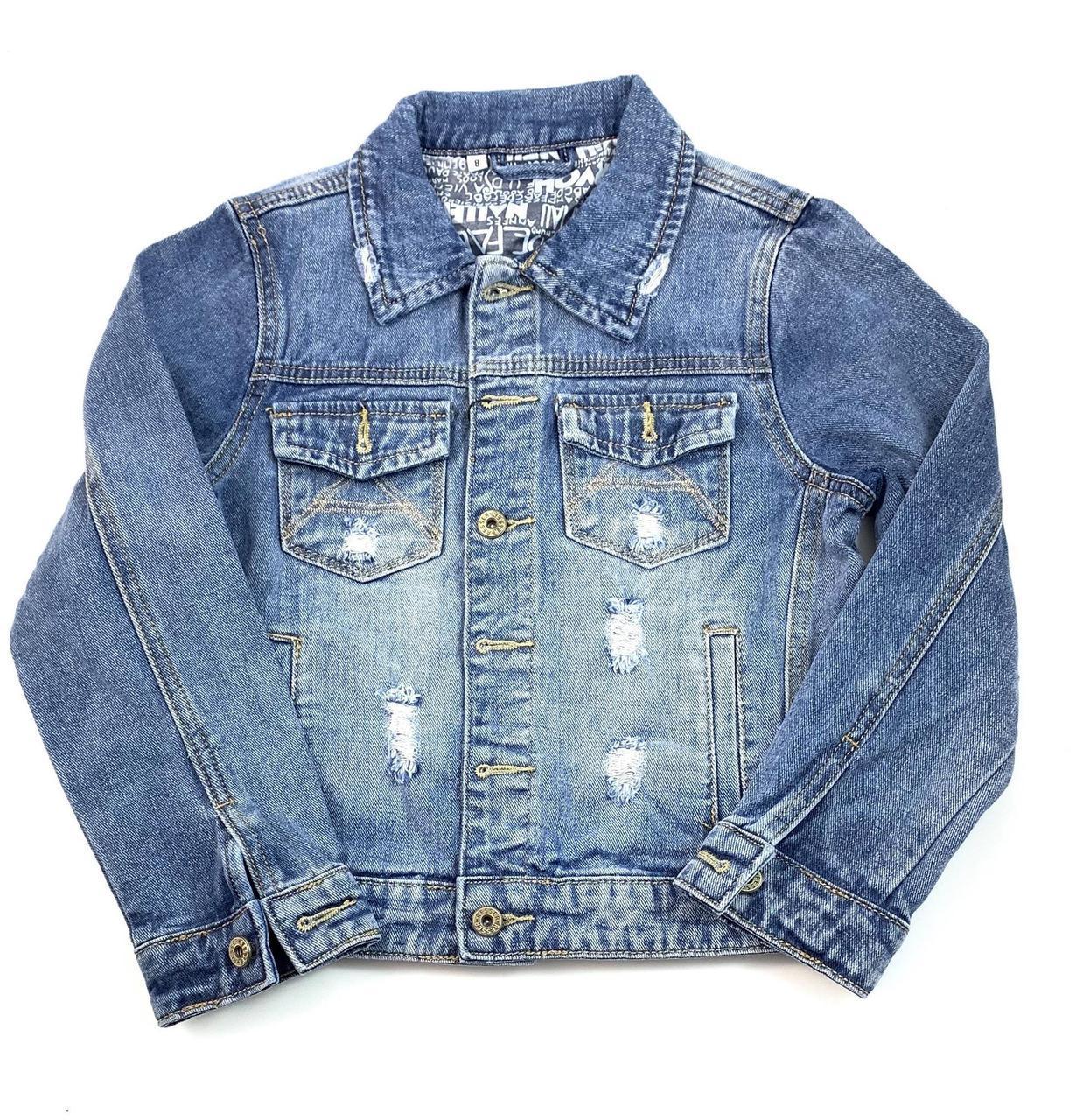 Джинсовая куртка для мальчика Resser Классика 5778 (р.8,11 лет)