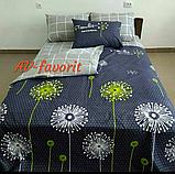 Постельное белье 1.5 спальное Одуванчик зеленый, фото 2