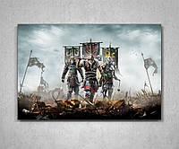 Картина на холсте по мотивам игры Фор Хонор For Honor 60х40, фото 1
