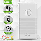 [ОПТ] Портативна батарея Power bank GOLF G80 Candy 10000mAh, фото 10