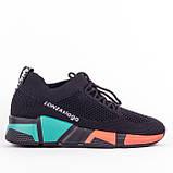 Женские легкие кроссовки Lonza YY8885 BLACK/RED, фото 4