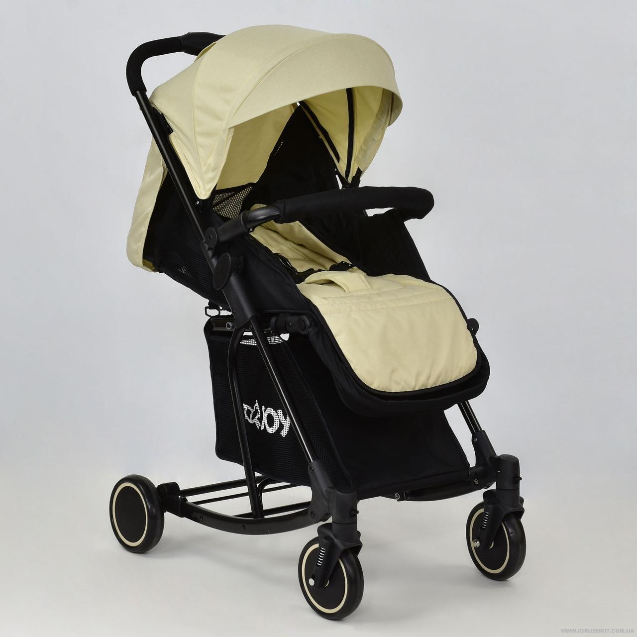 Коляска детская прогулочная Joy T 609 с функцией качания бежевая
