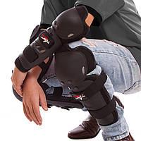Комплект мотозащиты PROBIKER (колено, голень + предплечье, локоть), PVC, металл, черный (HX-P01)