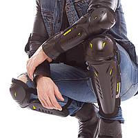 Комплект мотозащиты SP-PLANETA (колено, голень + предплечье, локоть),пластик, PL, черный (MS-08)
