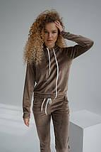 """Велюровый женский спортивный костюм """" VELOURS"""" с капюшоном, фото 3"""