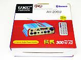 Усилитель UKC AV-206U - Bluetooth, USB,SD,FM,MP3! 300W+300W Караоке 2х канальный, фото 9