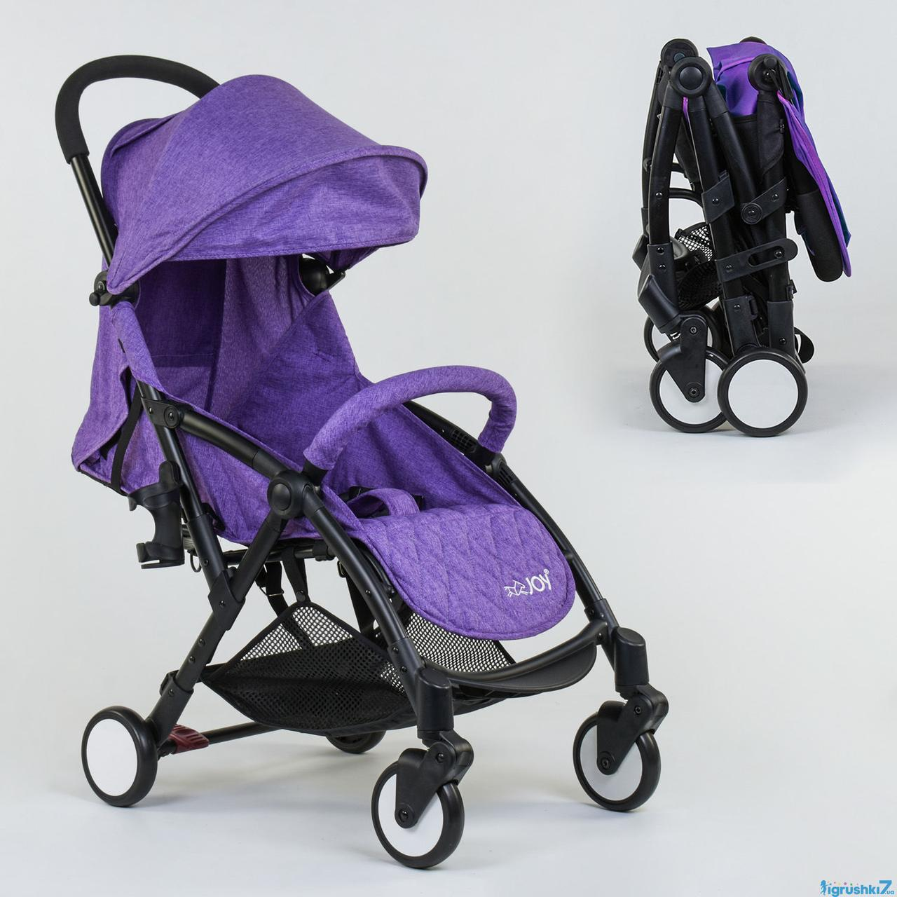 Коляска прогулочная детская W 2277 JOY чехол на ножки фиолетовая
