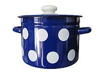 Кастрюля эмалированная 3л 1612/4 Горох синий Idilia