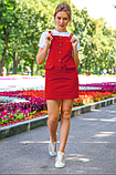 Модный сарафан лето 2020. Короткий сарафан на пуговицах.  Nui Very 05-23, фото 2
