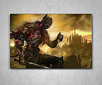 Картина подарок для геймера игромана Дарк Соулс Dark Souls 60х40, фото 1