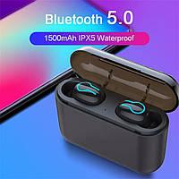 Безпровідна Bluetooth stereo гарнітурa HBQ Q32 TWS 1500 мАг Power bank