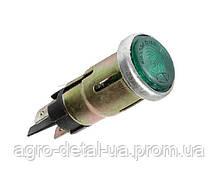 Фонарь контрольной лампы ПД20-Д1 глазок зеленый трактора Т16,СШ 2540