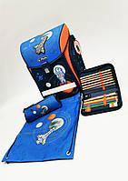 Ранец herlitz Midi Universe, с наполнением (пенал с 16 предметов,пенал-косметичку и мешок для обуви)