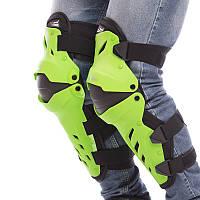 Мото-захист наколінники Комплект мотозащиты колін і гомілки PRO-BIKER Чорно-салатовий (MS-1239)