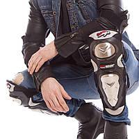 Комплект мото-захисту Наколінники і налокітники Мотозащита колін і гомілки PRO-BIKER Чорний (MS-1234)