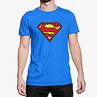 """Футболка мужская синяя с принтом """"Superman"""""""