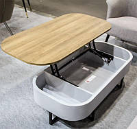 Журнальный стол-трансформер СT-15 с регулируемой высотой и с нишей для хранения 120х60х35-60 Н