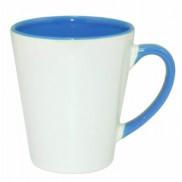 Чашка для сублимации цветная внутри и ручка Latte (голубой)