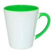 Чашка для сублимации цветная внутри и ручка Latte (салатовый)