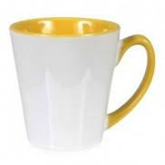 Чашка для сублимации цветная внутри и ручка Latte (жёлтый)