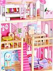 Детский игровой кукольный домик EcoToys 4119 Tima Toys + 2 куклы для детей, фото 6