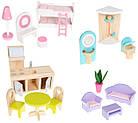 Детский игровой кукольный домик EcoToys 4119 Tima Toys + 2 куклы для детей, фото 5