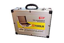 Кейс для инструмента Housetools - 455 x 330 x 152 мм алюминиевый с перегородками | 79K220-S