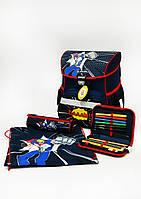 Школьный ранец Herlitz Comic Hero с наполнением (пенал с 16 предметов,пенал-косметичку и мешок для обуви)