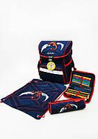 Школьный ранец Herlitz Red Rodo Dragon с наполнением (пенал с 16 предметов,пенал-косметичку и мешок для обуви)