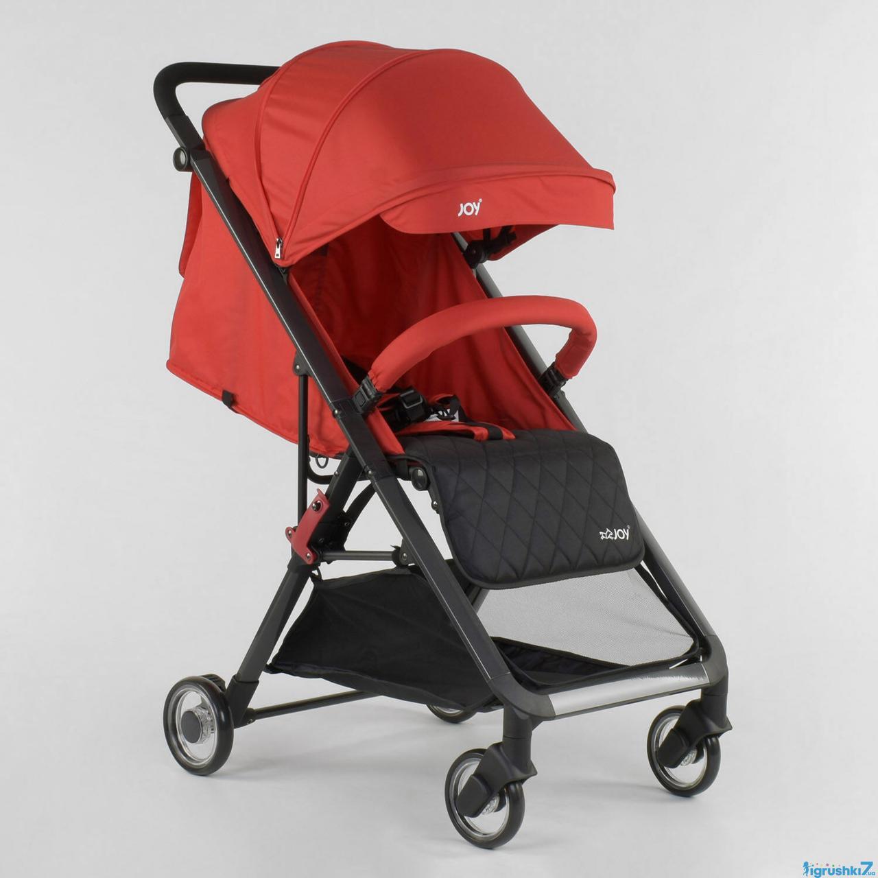 Коляска прогулочная детская 80747 JOY Kamelia чехол на ножки красный