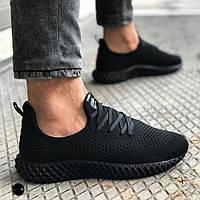 Мужские кроссовки черные сетка RC 07