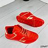 Кроссовки женские красные эко кожа, фото 4