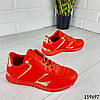 Кроссовки женские красные эко кожа, фото 10