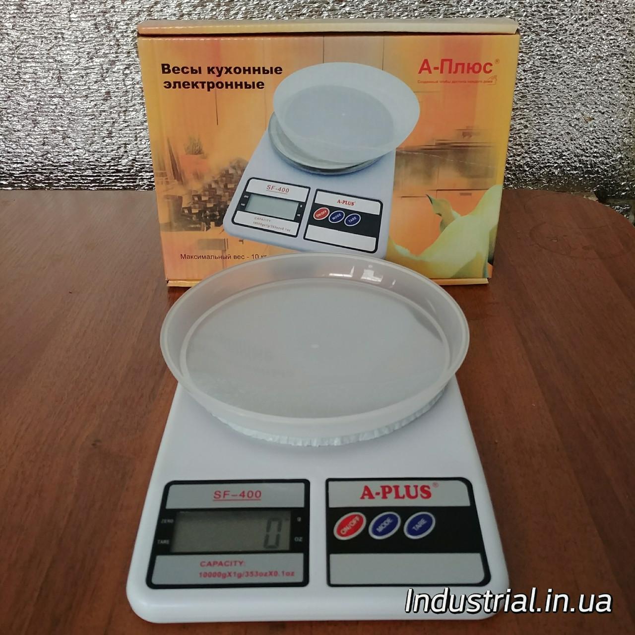 Весы кухонные А-плюс 1679 электрические с чашой 10кг.