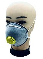 Респиратор защитная маска DELTAPLUS с угольным фильтром степень защиты FFP2 N95