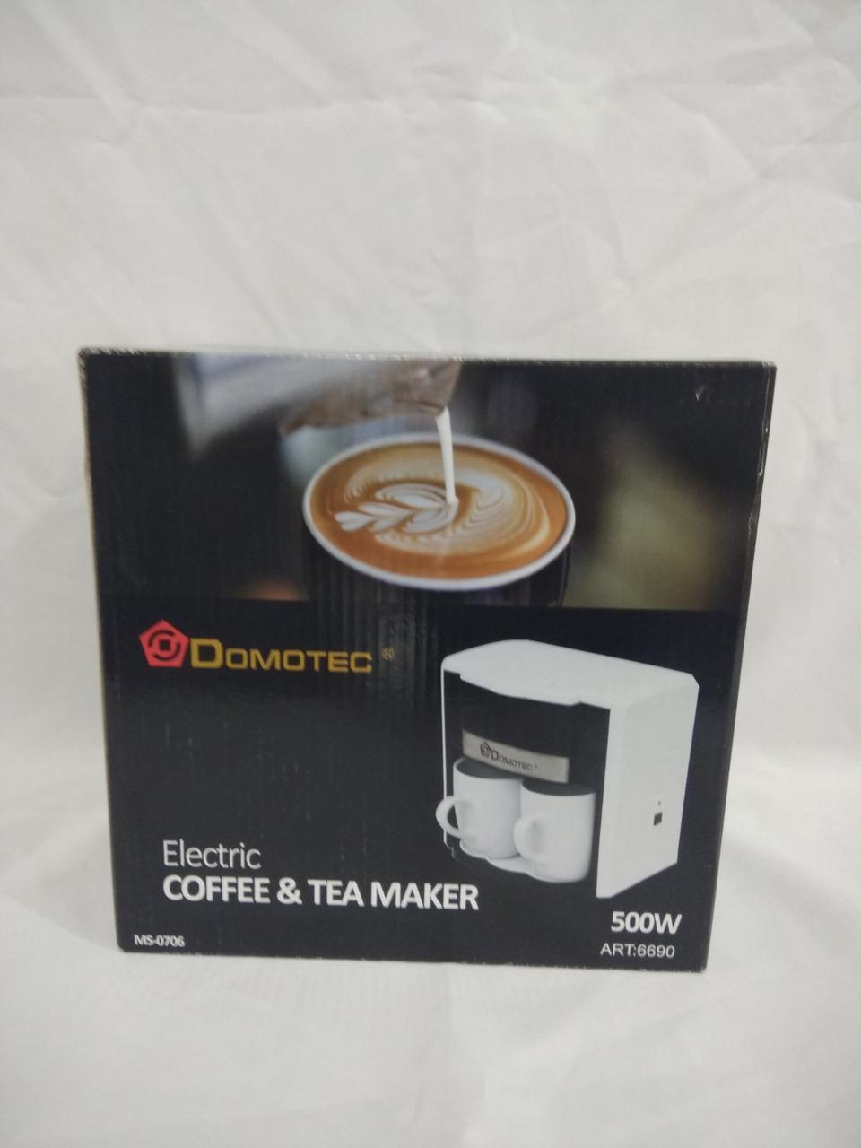 Капельная кофеварка электрическая Domotec MS-0706, 500W