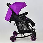 Коляска детская прогулочная Joy T 609 с функцией качания фиолетовый, фото 4
