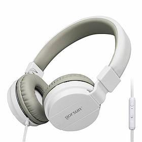 Наушники GORSUN GS-779 (с микрофоном, мониторы) White