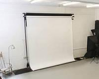 Белый матовый студийный виниловый фон 1,6x2,5 м