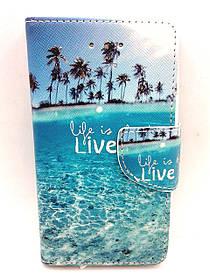 """Чехол-книжка 4you Art Print 3.5""""-4.0"""" Live it универсальная"""