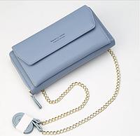 Женский клатч сумочка Baellerry Leather blue