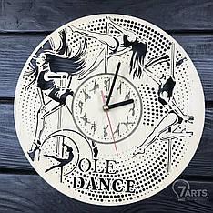 Концептуальные настенные часы из дерева «Пол дэнс»