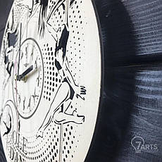 Концептуальные настенные часы из дерева «Пол дэнс», фото 2