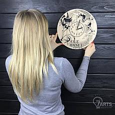Концептуальные настенные часы из дерева «Пол дэнс», фото 3