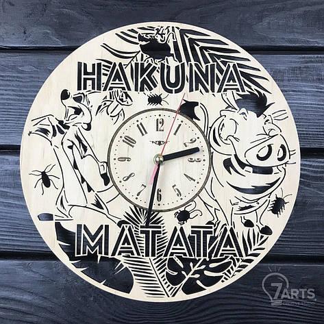 Детские настенные деревянные часы «Тимон и Пумба», фото 2