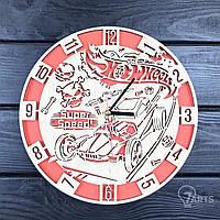 Оригинальные настенные часы из дерева «Hot Wheels»