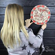 Оригинальные настенные часы из дерева «Hot Wheels», фото 3