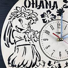 Настенные часы из дерева в детскую «Лило и Стич», фото 3