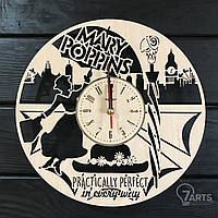 Оригинальные настенные часы из дерева «Мэри Поппинс»